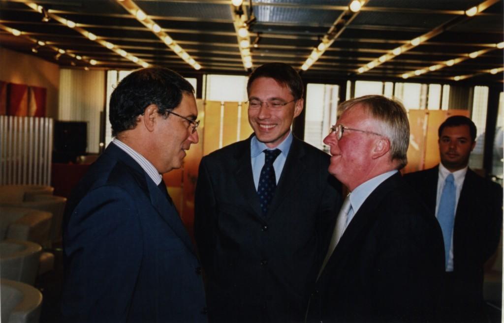 Da destra, Angelo Uri Hassan, Massimo Donda e Petersem