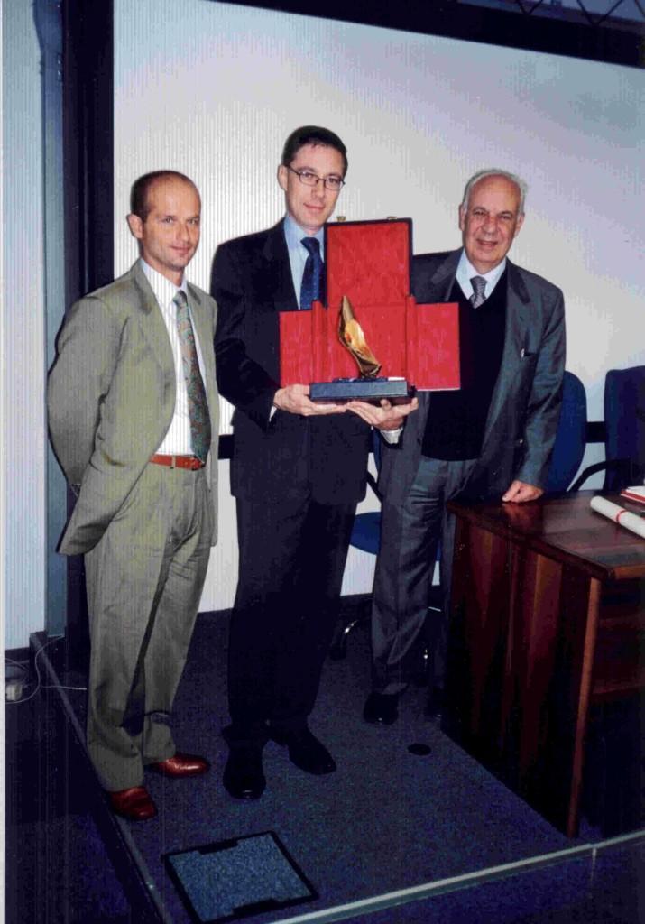 Il segretario di Federcalzature Alessandro Marcelli, Massimo Donda, Fabio Donda